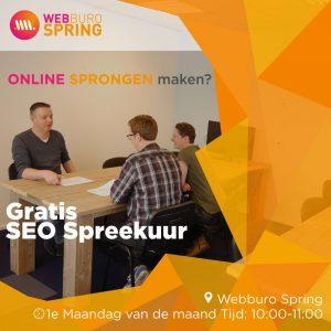 Webburo Spring: Kom naar ons ONLINE SEO spreekuur voor praktische tips en antwoorden