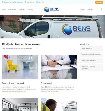 Bens schoonmaak diensten portfolio webburo spring verticaal 2