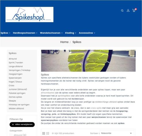 Portfolio Webburo Spring Spikeshop Prestashop Webshop Verticaal