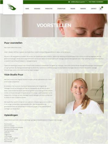 Studio puur massage gouda portfolio webburo spring verticaal 2