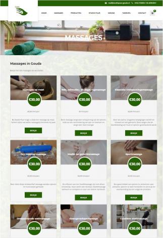 Studio puur massage gouda portfolio webburo spring verticaal 1