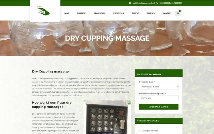 Studio puur massage gouda portfolio webburo spring horizontaal 1