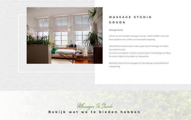 Studio puur massage gouda portfolio webburo spring horizontaal 2
