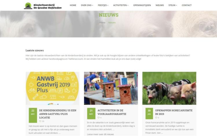 Kinderboerderij gouda portfolio webburo spring horizontaal2