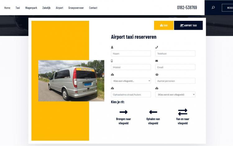 Taxi one portfolio webburo spring horizontaal 1